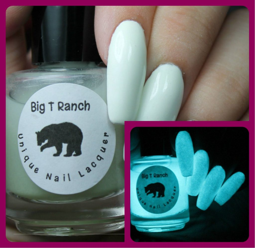 Big T Ranch Top Coat Glow in the Dark Nail Polish